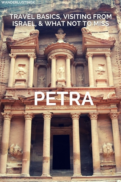 Want to visit Jordan to see Petra from Israel? Travel logistics and tips for the overland journey (from Eilat) and for visiting Petra!