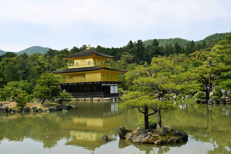 Photo of the Golden pavilion (Kinkaku-ji temple in Kyoto), one of the must-see attractions in Kyoto. #travel #asia #japan #Kyoto